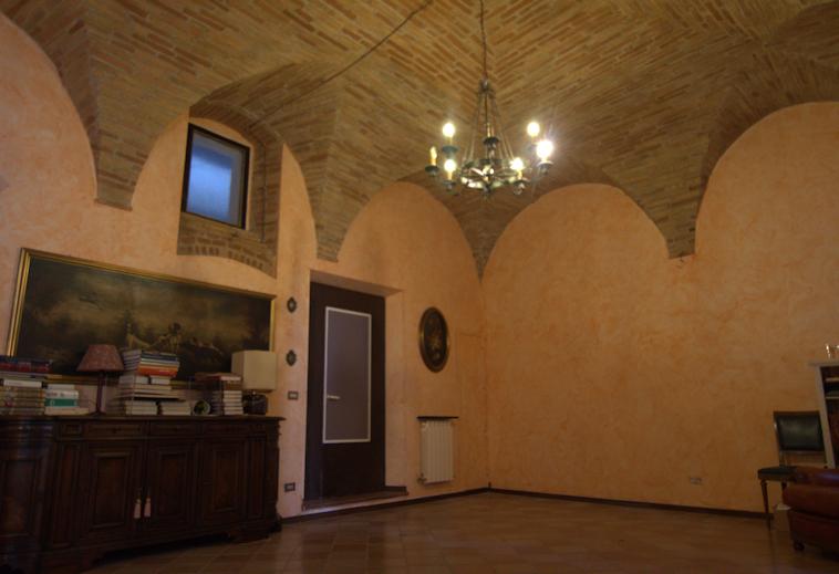 18th Century apartment with vaulted ceilings.